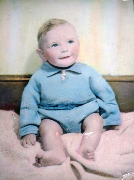 Colour Portrait Young Boy, early 1940s