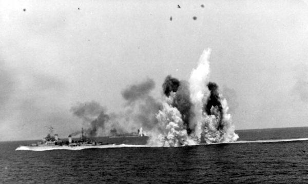 Ships Under Attack In Mediterranean 1940s