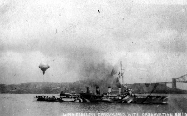 HMS Fearless Leaving Rosyth c.1918