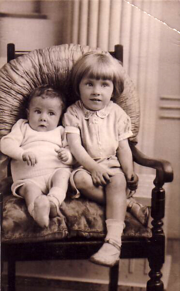 Studio Portrait Young Brother And Sister 1936
