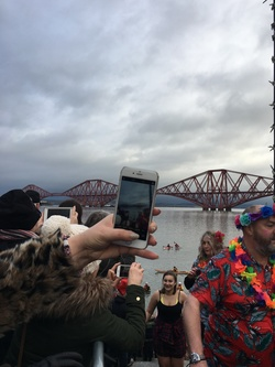 South Queensferry Loony Dook, 1 January 2018