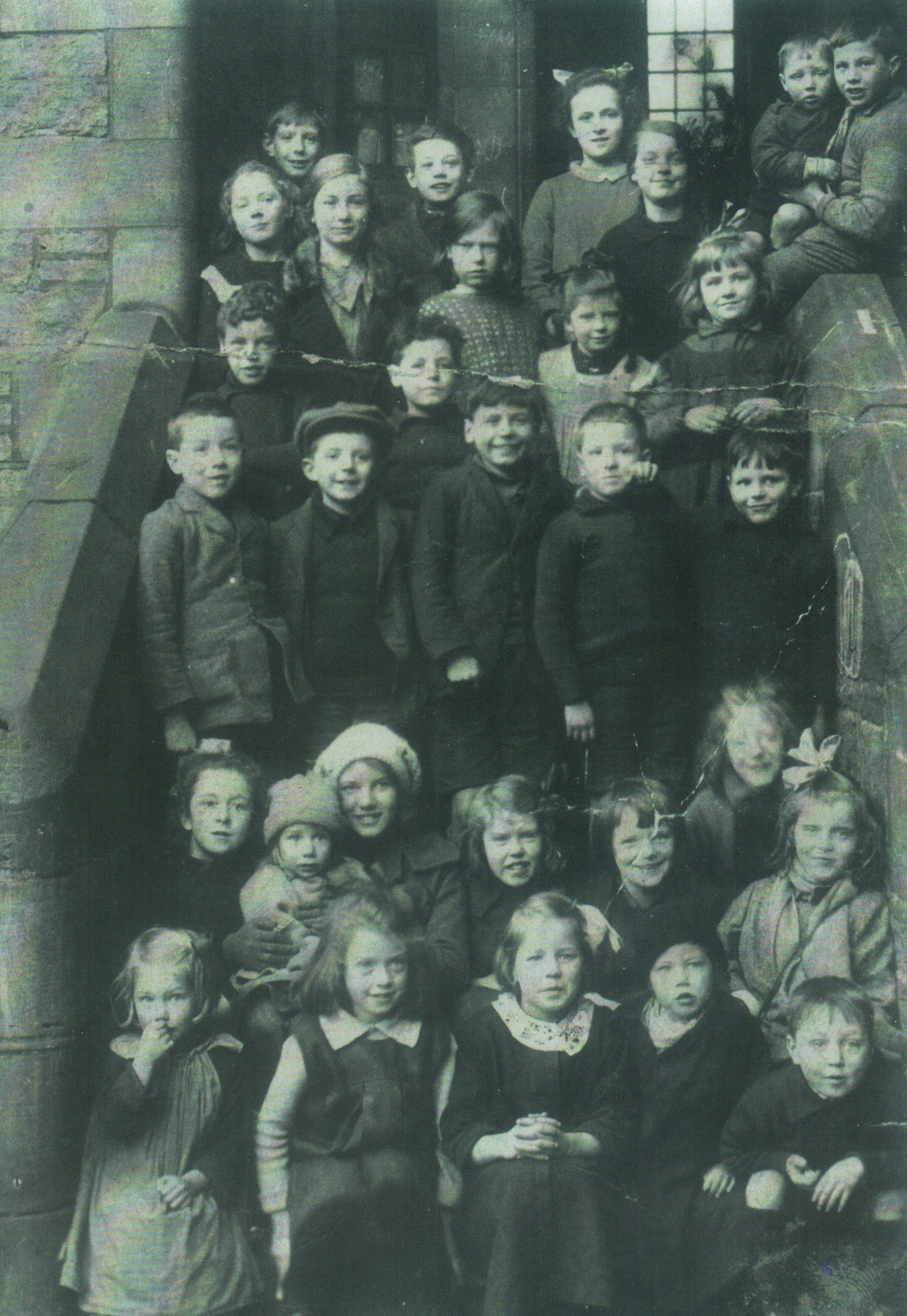 Dean Village children group photograph.
