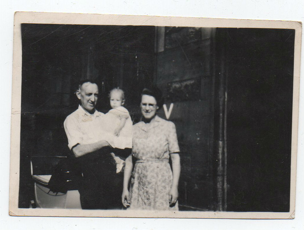 Grandad and Gran outside 2 Well Court