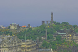 Calton Hill seen from Edinburgh Castle