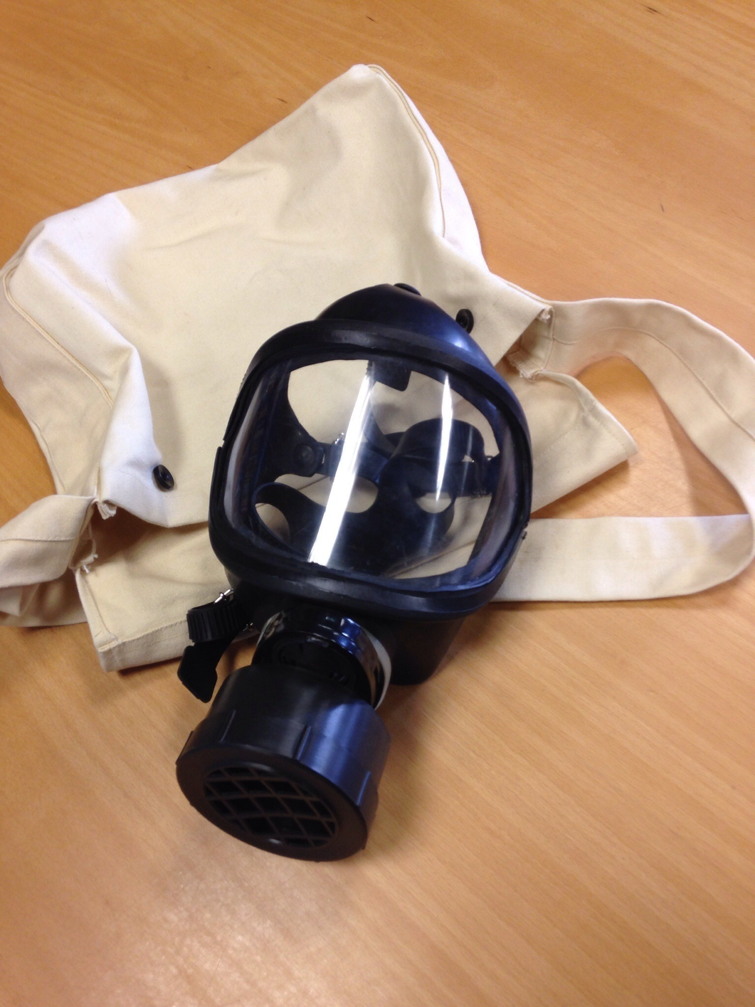Gas mask from World War II