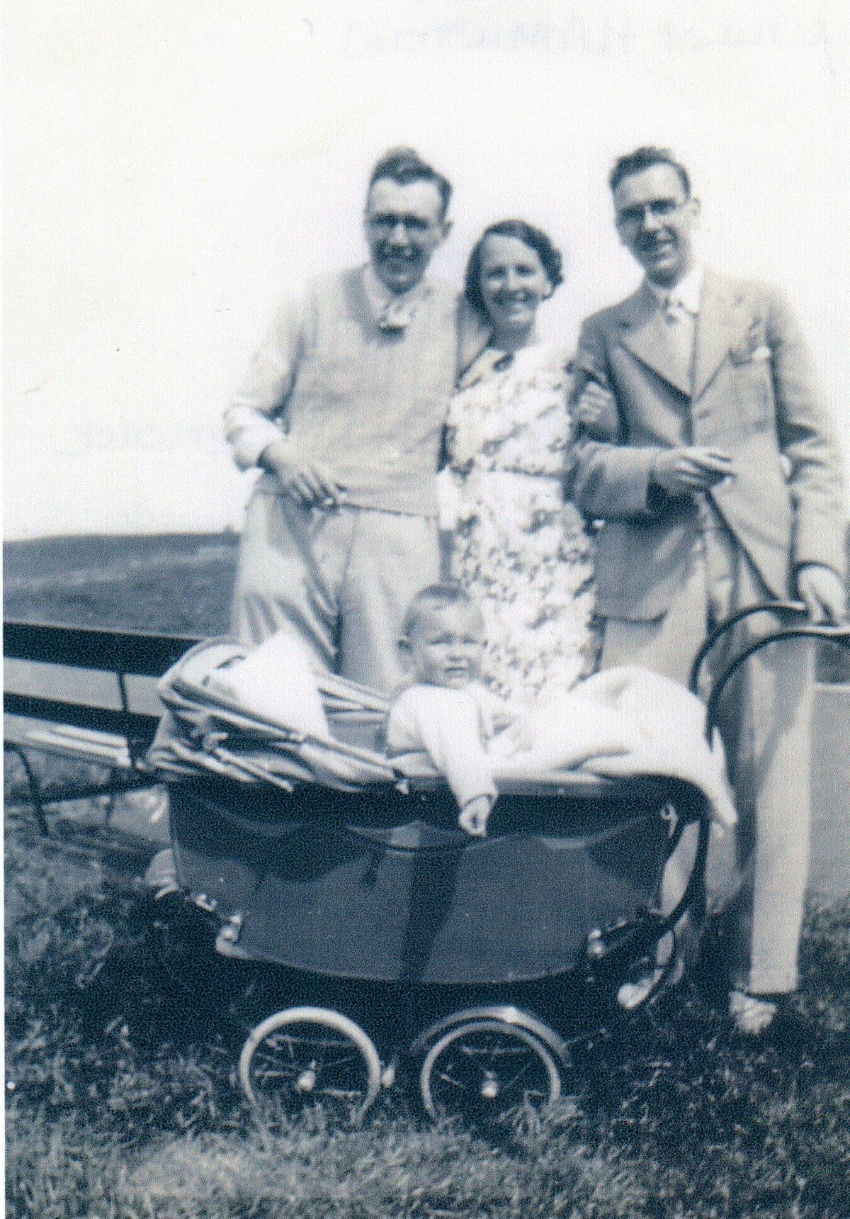 Family With Baby In Pram c.1938