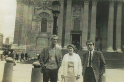 My dad, mum and my brother Jim visiting London.