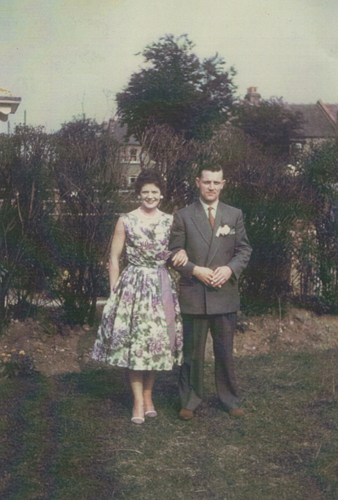 My brother Alex and his wife Joyce photographed at their wedding in Gravesend, Kent.