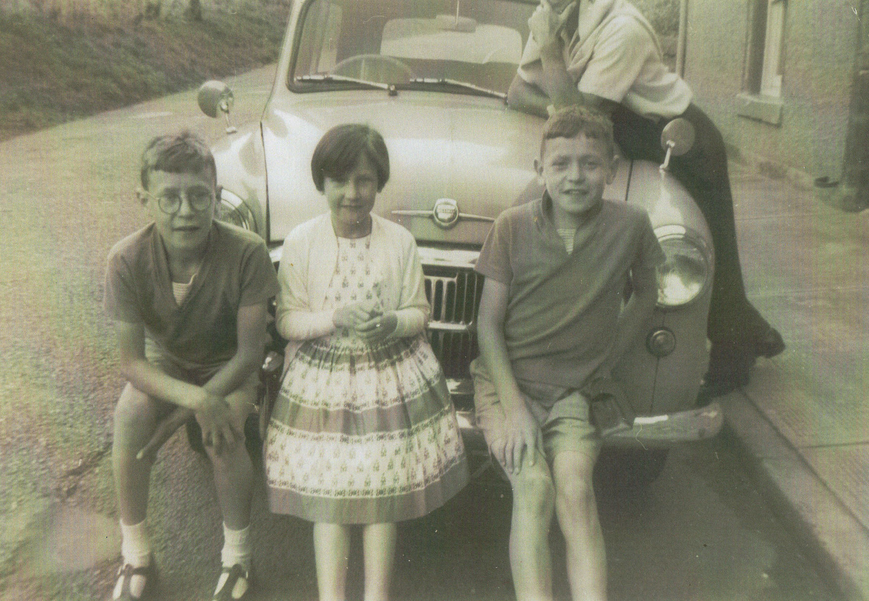 Left to right Jim, Me and Douglas on a family holiday at Kinghorn in Fife.