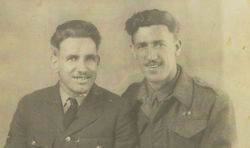 My Dad Tony (on the right) with his Brother Andrew. Photo taken during the Second World War.