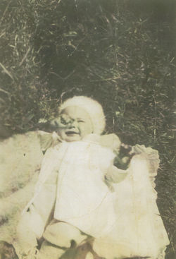 My Brother George aged 6 months.