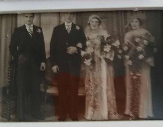 My mum as a Bridesmaid at her friends wedding.