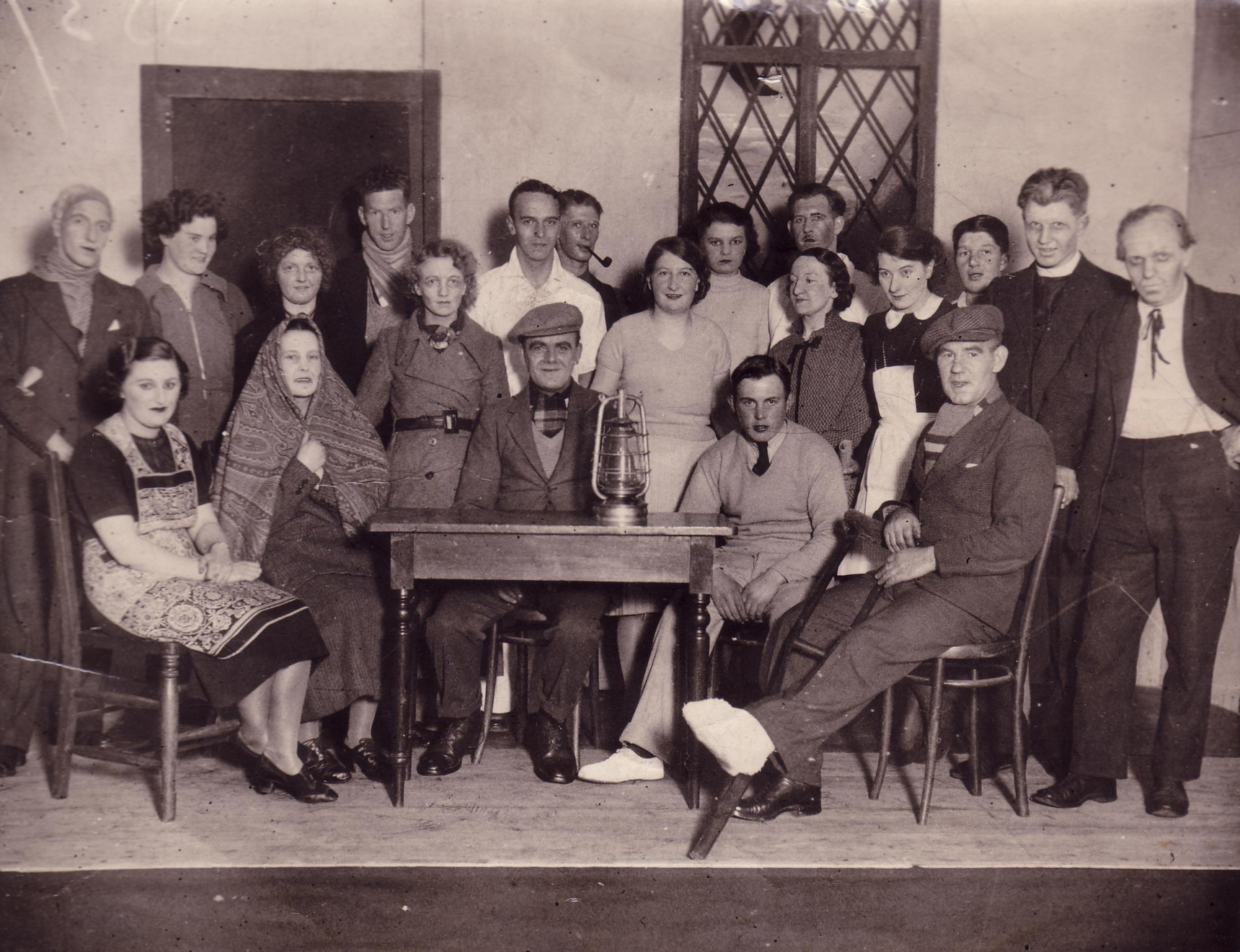 Cast Of Amateur Dramatic Company Performing Play At Dunning School 1940s