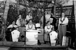Dance Band Performing In Leis, late 1940s