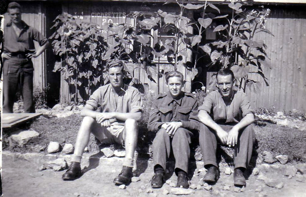 Three Soldiers In Quiet Moment At POW Camp 1943