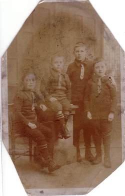 Studio Portrait Four Young Brothers c.1920