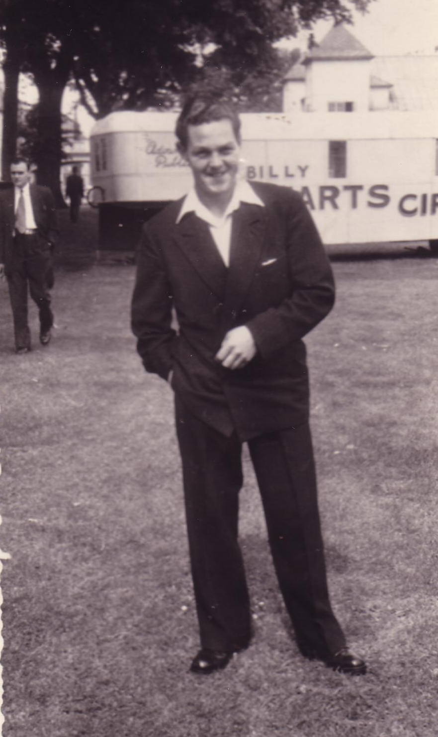 Young Man In Suit At Circus, early 1950s