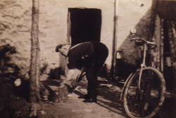 Man At Work Outside House 1930s