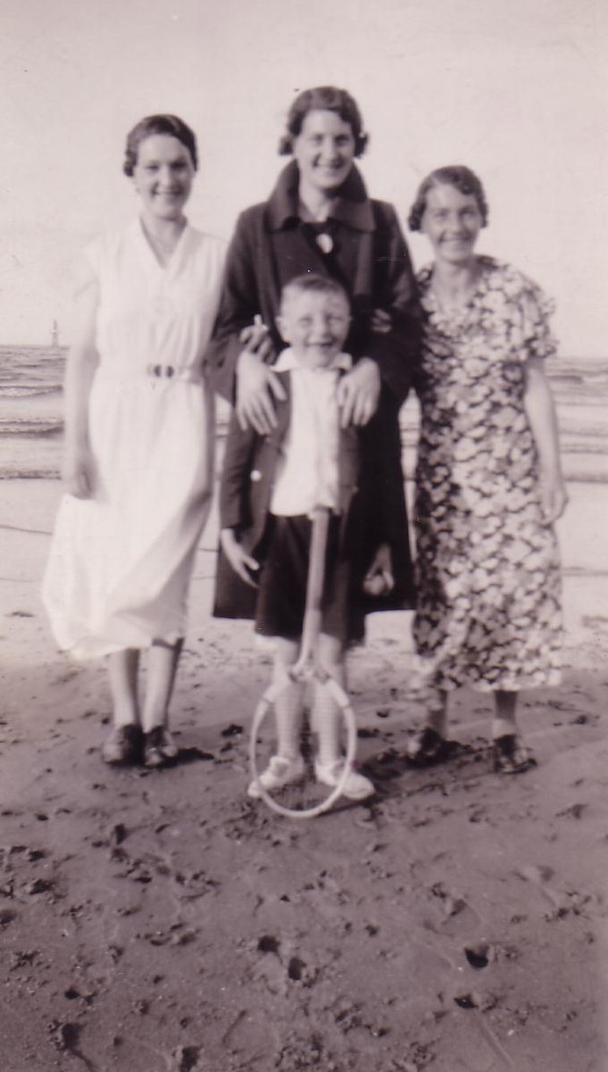 Family Group At Seaside 1940s