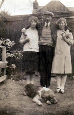 Family Group Standing In Back Garden 1930s