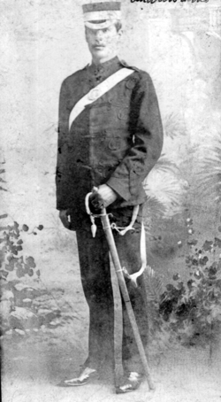 Studio Portrait Victorian Hussar (?) 1880s