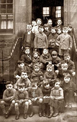 My Brother Alec -- bottom row 2nd left, aged 5 years old, is amongst these 30 children photographed