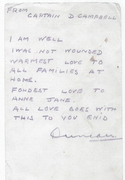 Letter from Duncan Campbell, POW, Anne Shaw's father