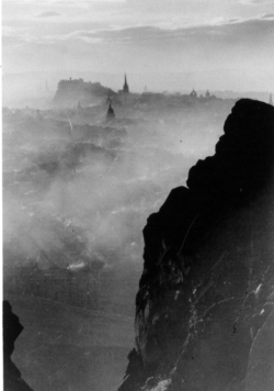 Edinburgh From 'Cat's Nick' on Salisbury Crags 1950s