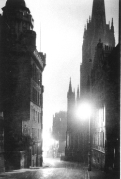 Castlehill At Night 1950s