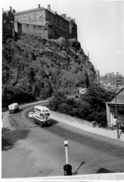 Edinburgh Castle Barracks From Foot Of Johnstone Terrace 1950s
