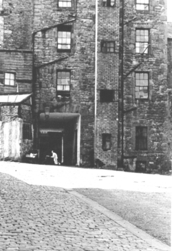 Rear Of Tenement Building 1960s