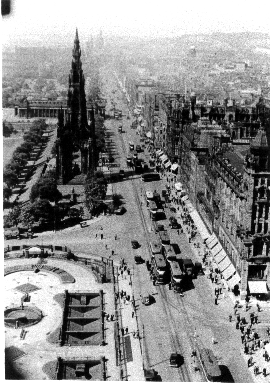 Princes Street Looking West 1950s