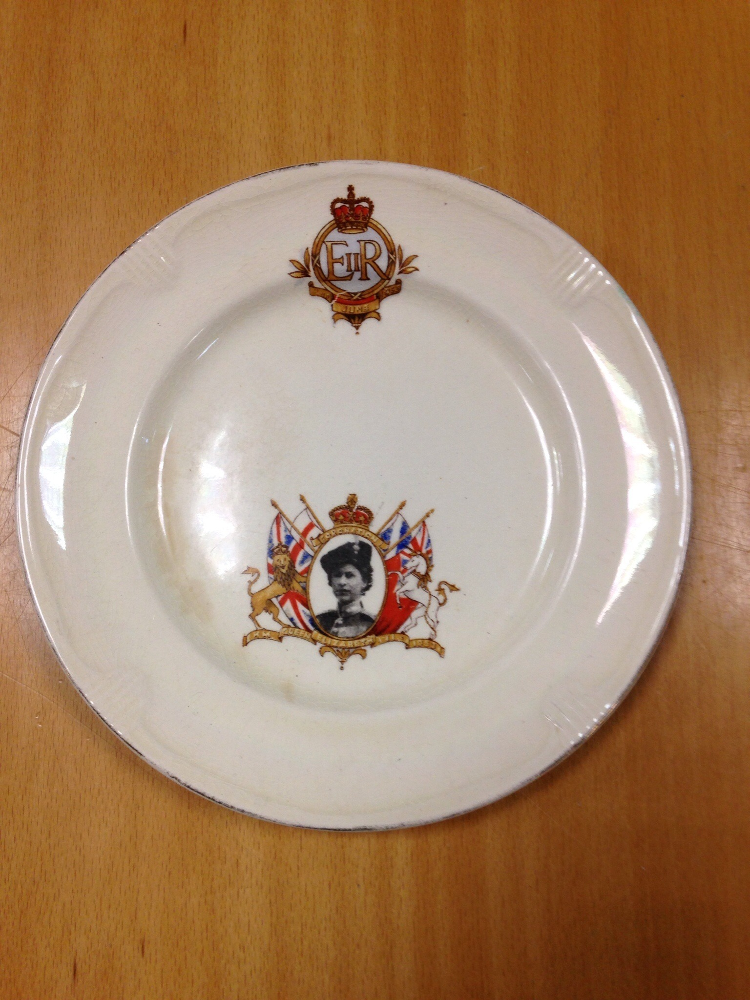 Queen Elizabeth Coronation Plate