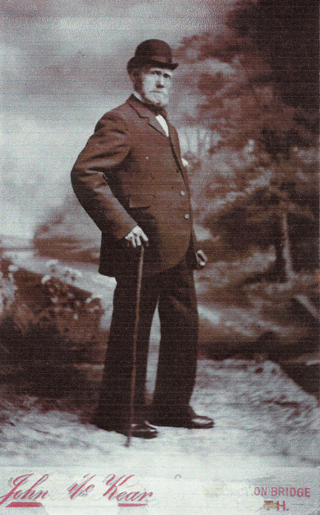 Studio Portrait Man Walking c.1900