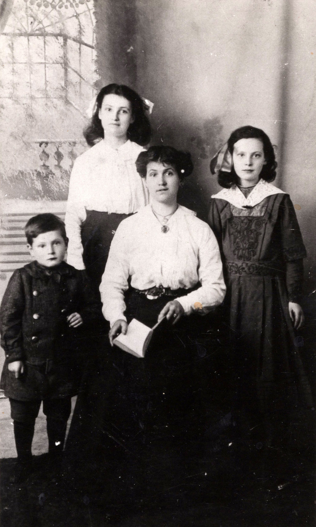 Studio Portrait Mother And Children c.1914