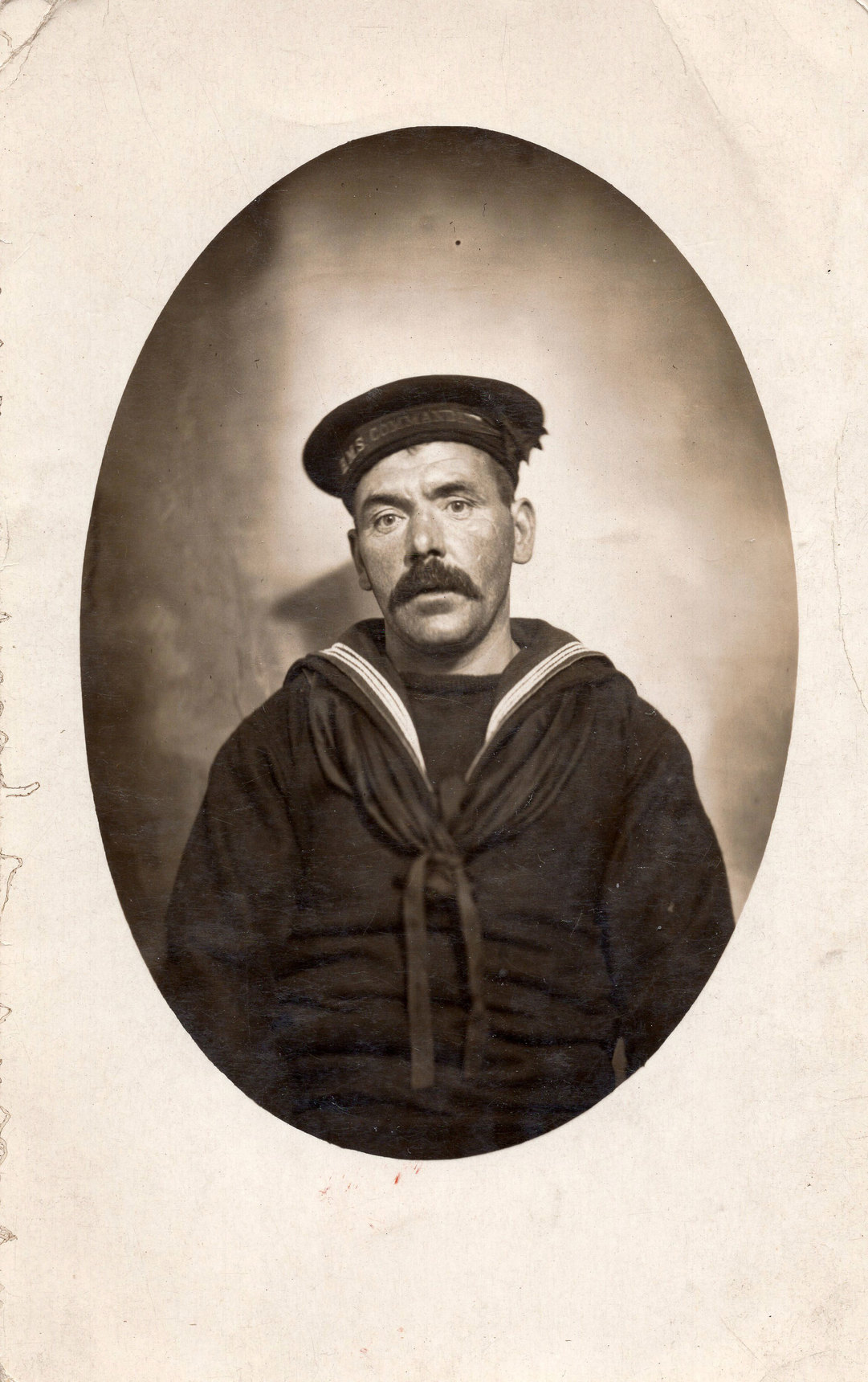 Studio Portrait Sailor Of Royal Navy c.1915