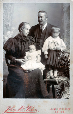 Studio Portrait Young Family 1898