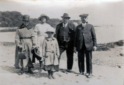 Family On Beach At Aberdour 1920s