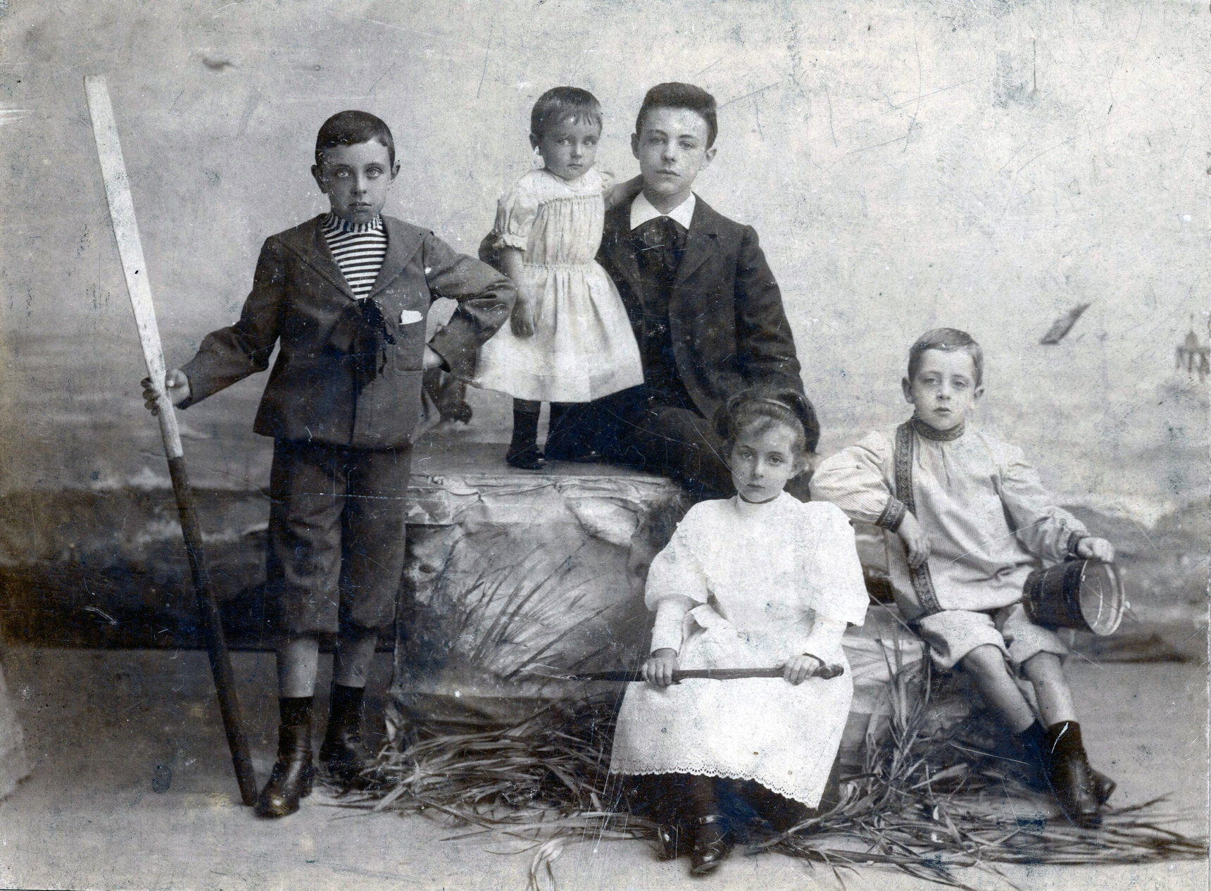 Studio Portrait Belgian Family 1890s
