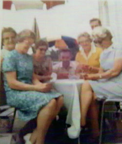 Some Dean Villagers pictured on holiday in Yugoslavia.