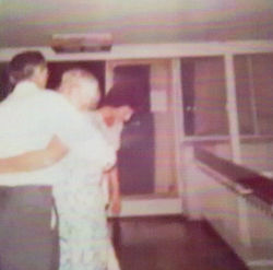 After dinner dance on holiday in Yugoslavia.
