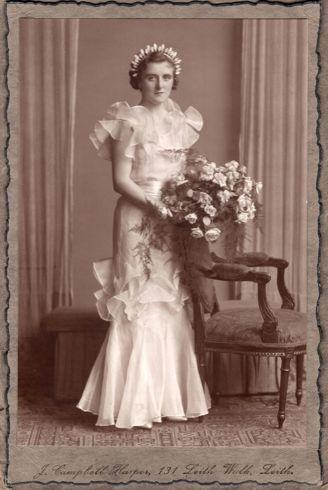 Bride On Her Wedding Day 1930s