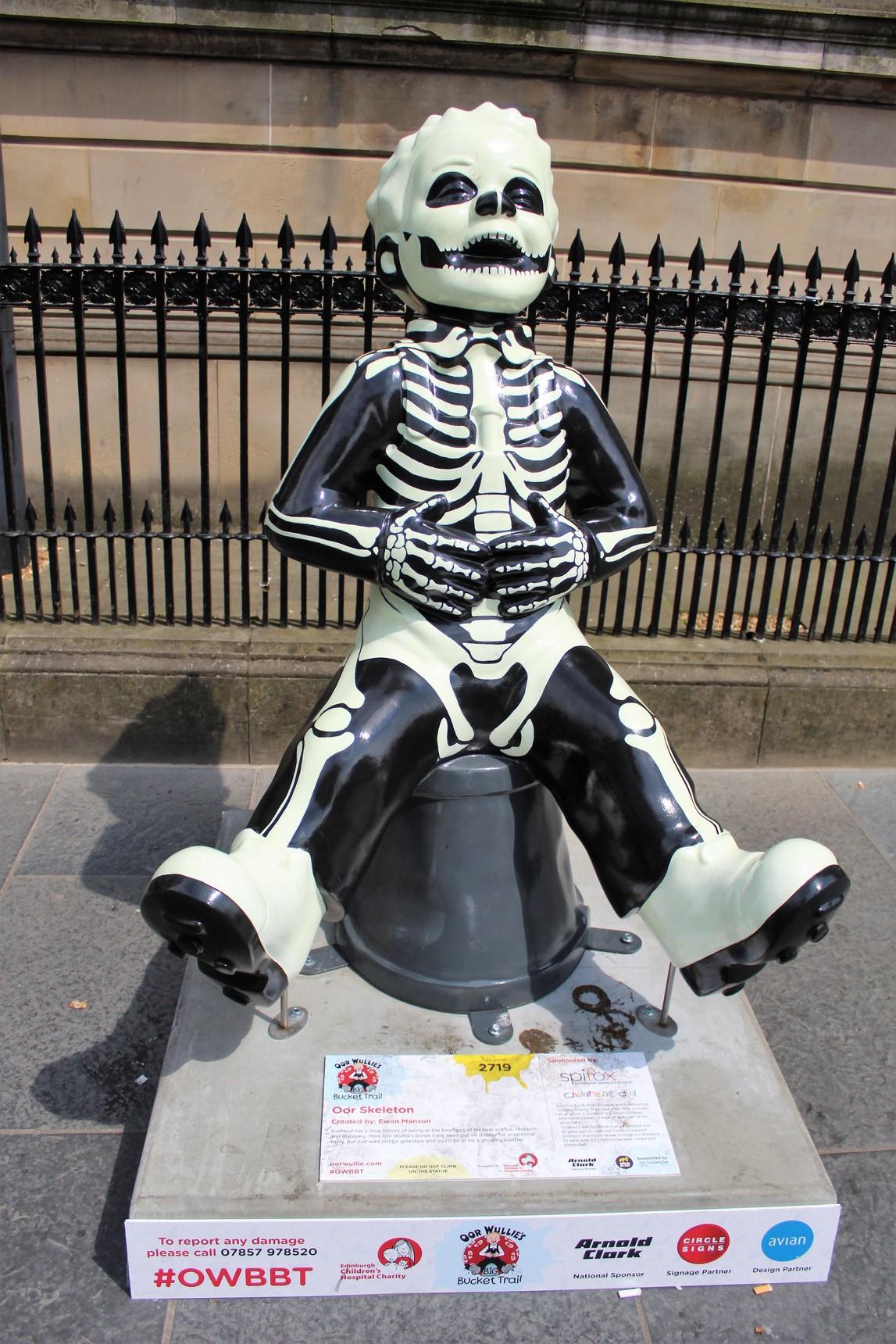 Oor Wullie's Bucket Trail - Oor Skeleton