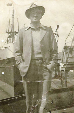 Man Standing At Quayside 1940s