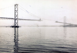 Forth Road Bridge Under Construction c.1963