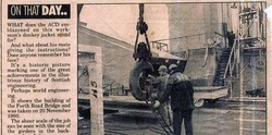 Newspaper Cutting Of Construction Workers On Forth Road Bridge c.1960