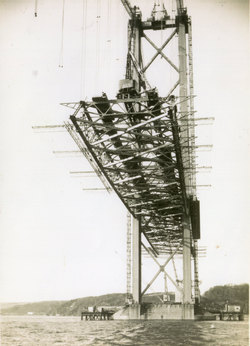 View Underneath Of Forth Road Bridge During Construction c.1962