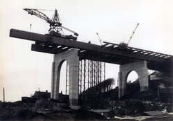Approach Viaduct Of Forth Road Bridge Under Construction c.1962