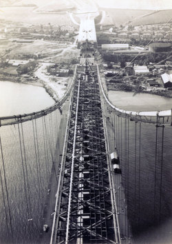 View Looking Down From A Tower Of The Forth Road Bridge c.1963