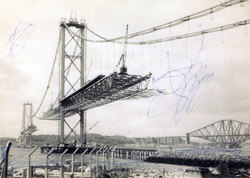 Half Completed Forth Road Bridge c.1963